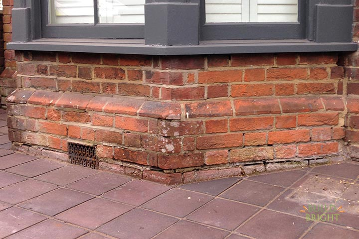 brick repair replacement Winchester Alresford Twyford Southampton Romsey Hampshire before