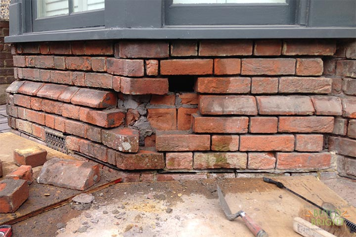 brick repair replacement Winchester Alresford Twyford Southampton Romsey Hampshire during