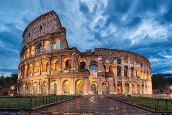 rome colosseum lime mortar