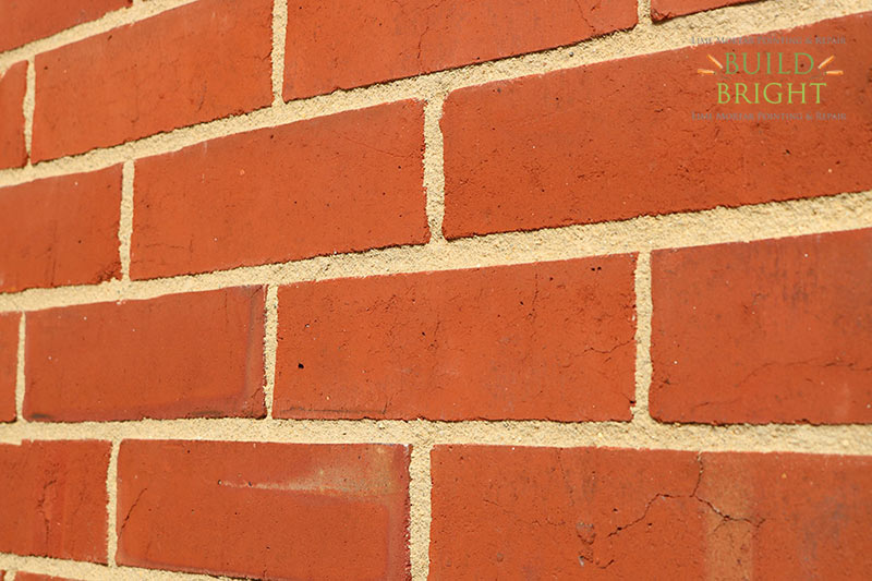 Lime mortar repointing Basingstoke Hampshire Edwardian terrace sample