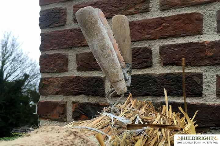 lime mortar cottage chimney rebuild repair repointing 2